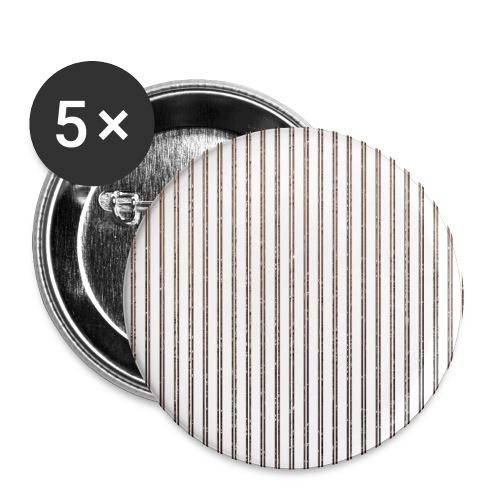 Pinstripe Muster Streifen Muster gestreift weiß - Buttons small 1''/25 mm (5-pack)