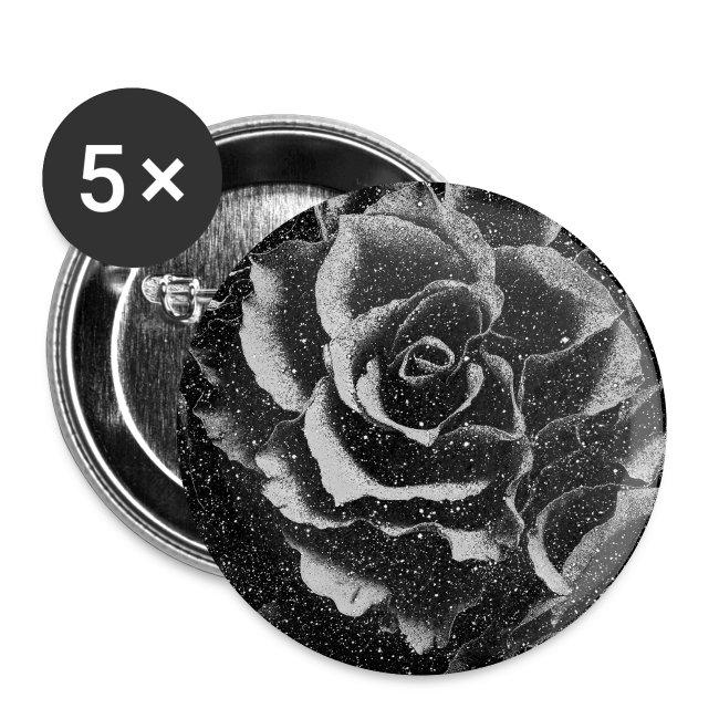 Vintage rose black and white floral mask
