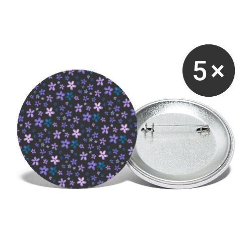 Pattern piccoli fiori ad acquerello - Confezione da 5 spille piccole (25 mm)