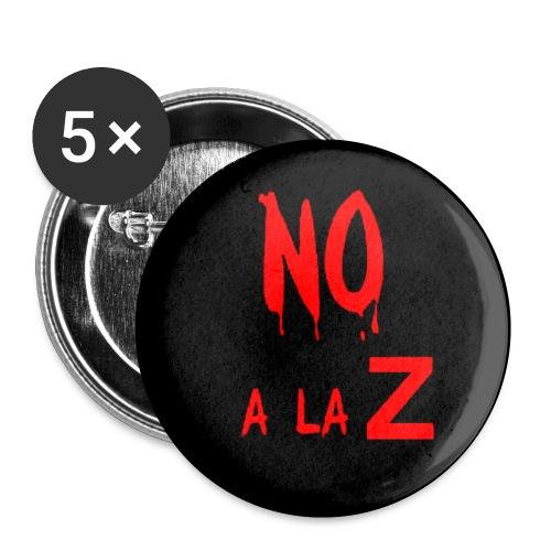 noalazchapa - Paquete de 5 chapas pequeñas (25 mm)