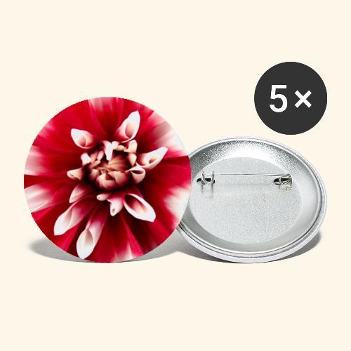 Dahlienblüte, Blume, Blüte, foral, blumig, Blumen - Buttons klein 25 mm (5er Pack)