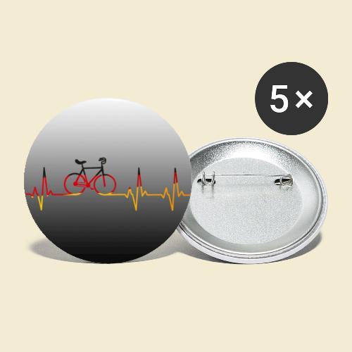 Kunstrad Heart Monitor Maske - Buttons klein 25 mm (5er Pack)
