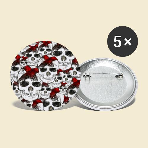 Radball | Skull Maske - Buttons klein 25 mm (5er Pack)