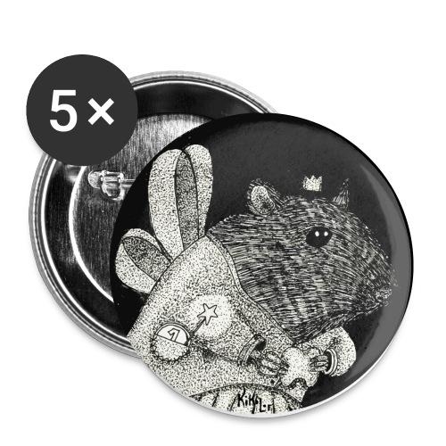 Hada de los dientes / Ratón Pérez - Paquete de 5 chapas pequeñas (25 mm)