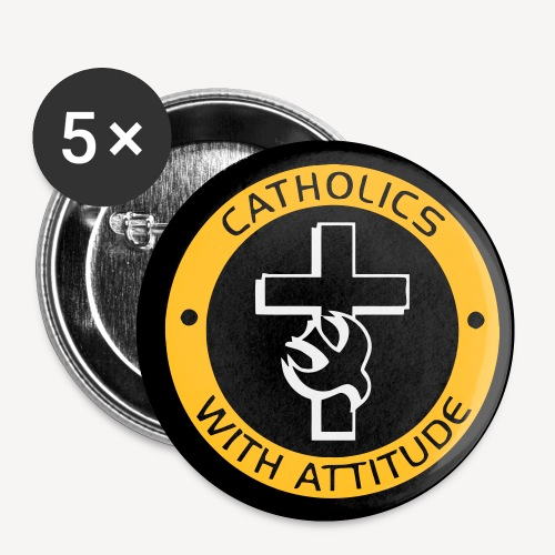CATHOLICS WITH ATTITUDE BADGE - Buttons small 1''/25 mm (5-pack)