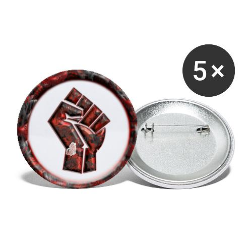 Butterfly white - Power to the people - Buttons small 1''/25 mm (5-pack)
