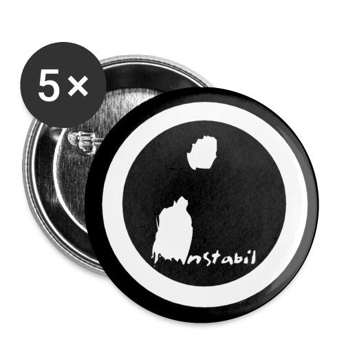 logo instabil gross - Buttons small 1''/25 mm (5-pack)