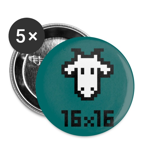 16x16 biquette - Lot de 5 petits badges (25 mm)