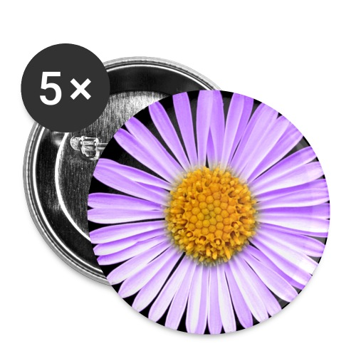 purpleflower2 - Buttons small 1''/25 mm (5-pack)
