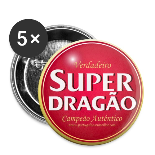 superdragao highres - Buttons small 1''/25 mm (5-pack)