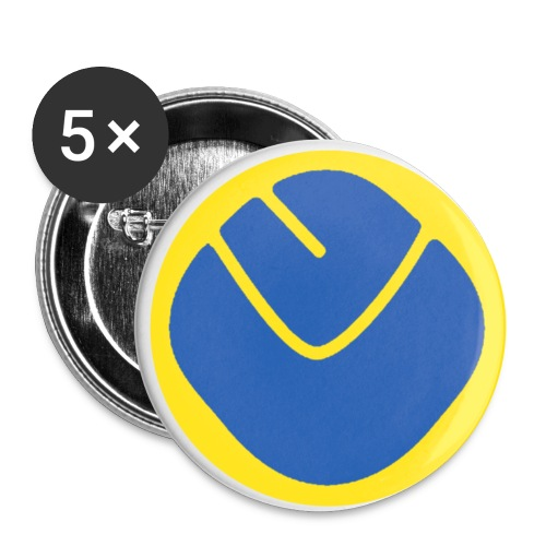smiley invesrse - Buttons small 1''/25 mm (5-pack)