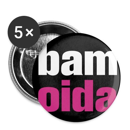 bam oida logo - Buttons klein 25 mm (5er Pack)