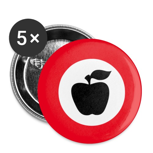 apfelfront - Buttons klein 25 mm (5er Pack)