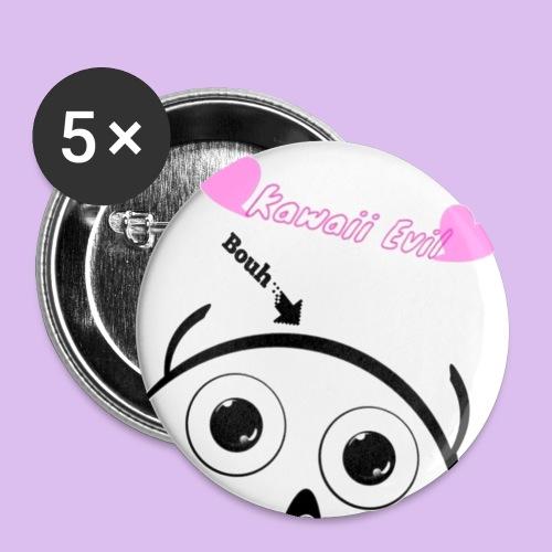 Kawaii Evil - Lot de 5 petits badges (25 mm)