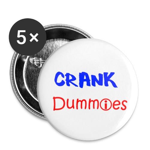 Crank Dummies LOGO - Buttons klein 25 mm (5er Pack)