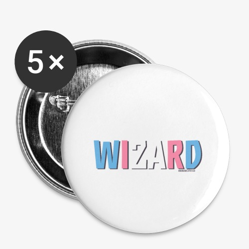 Pride (Trans) Wizard - Buttons small 1''/25 mm (5-pack)