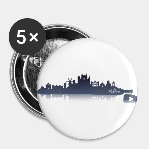 Mallorca Skyline - Buttons klein 25 mm (5er Pack)