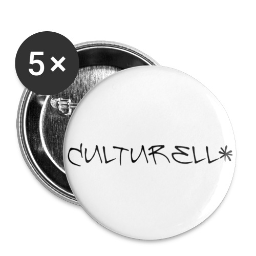 culturell banner white - Buttons klein 25 mm (5er Pack)