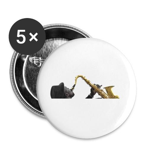 Shaka saxo - Lot de 5 petits badges (25 mm)