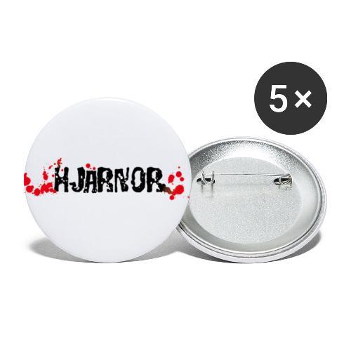 Hjärnor logo svart - Små knappar 25 mm (5-pack)