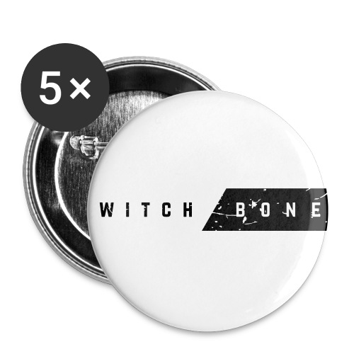 Switchbone_black - Buttons klein 25 mm (5-pack)
