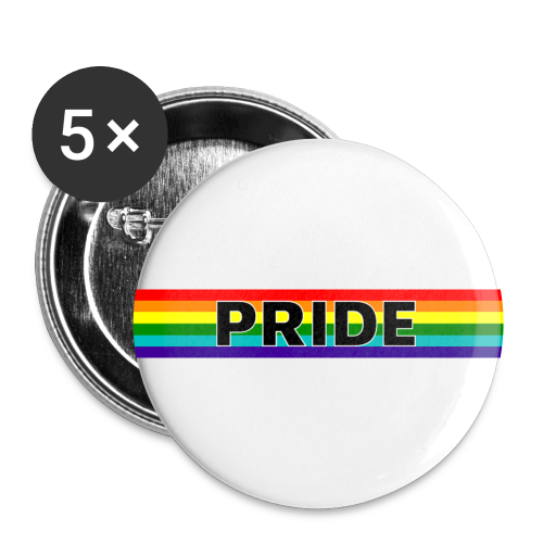 Gay pride rainbow vlag met de tekst Pride - Buttons klein 25 mm