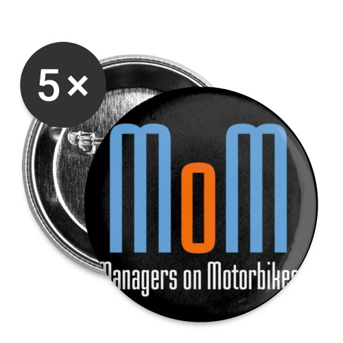 Managers on Motorbikes Logo - Buttons klein 25 mm (5er Pack)