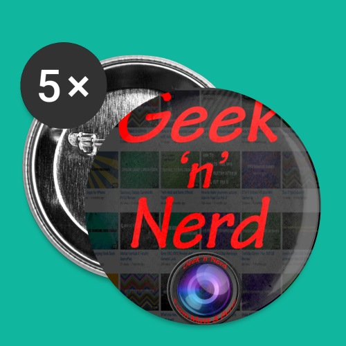 Geek n Nerd Logo jpg - Buttons small 1''/25 mm (5-pack)