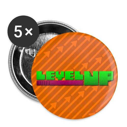 Pfeile mit Logo Quadrat png - Buttons klein 25 mm (5er Pack)