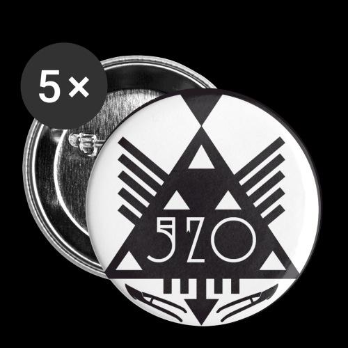 520 LOGO RUND png - Små knappar 25 mm (5-pack)