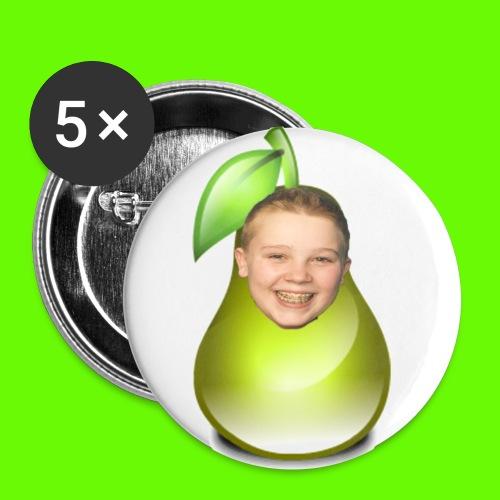 button met tjeerd als peertje! - Buttons klein 25 mm (5-pack)