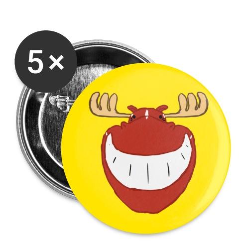 knapp - Buttons klein 25 mm (5er Pack)