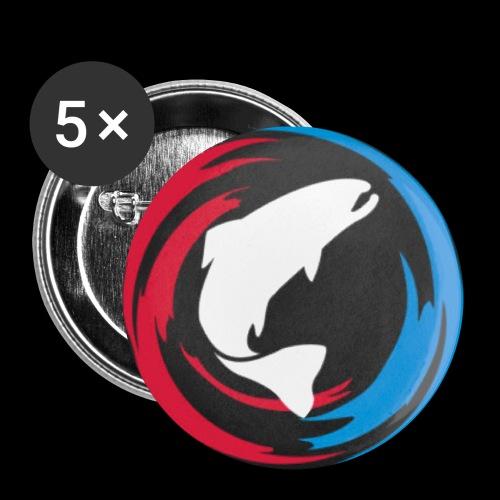 Logo Fisk - Små knappar 25 mm (5-pack)