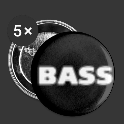 badge bass - Buttons small 1''/25 mm (5-pack)