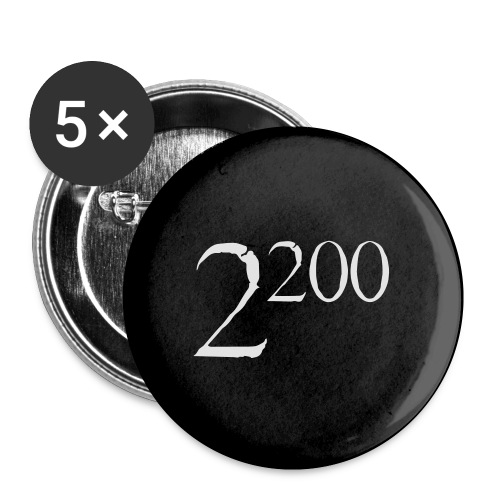 22p00c - Buttons/Badges lille, 25 mm (5-pack)