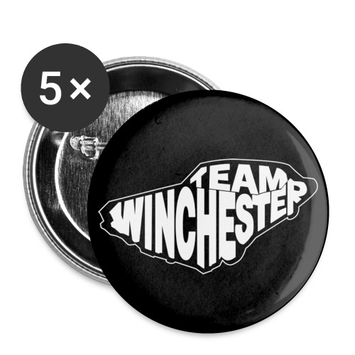 Team Winchester (dark) Buttons - Buttons small 1''/25 mm (5-pack)