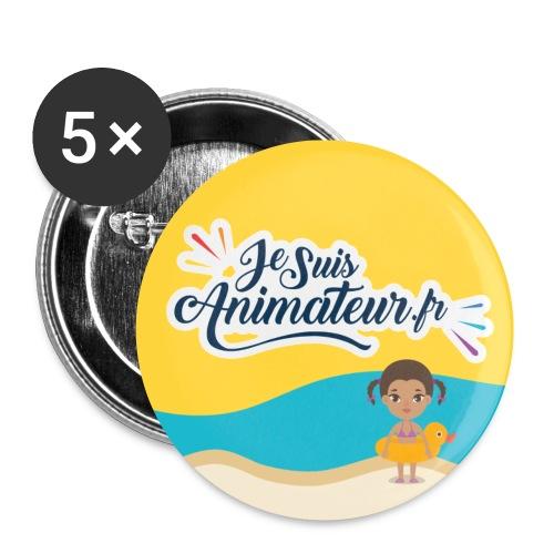 Plan de travail 2 - Lot de 5 petits badges (25 mm)