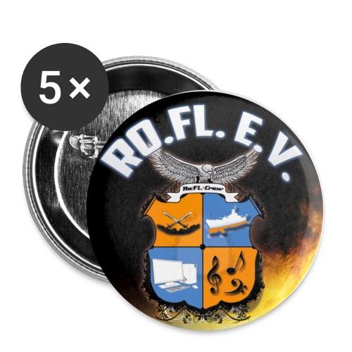 Rundes Logo Ausgeschnitte - Buttons klein 25 mm (5er Pack)