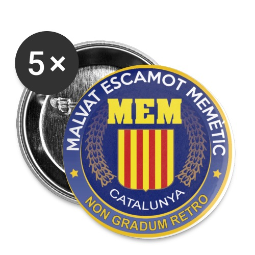 MEM CIA LogoULTIM - Paquete de 5 chapas pequeñas (25 mm)