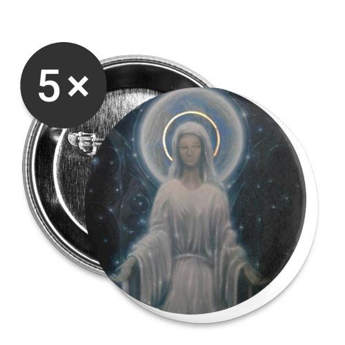 圣母玛利亚 Notre Dame by Jean Libon - Lot de 5 petits badges (25 mm)