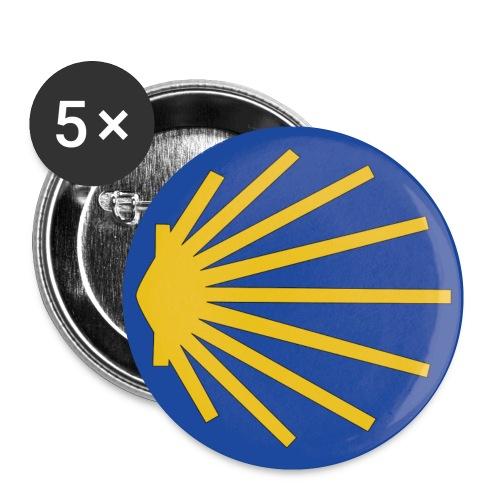 Muschel Wegweiser - Buttons klein 25 mm (5er Pack)