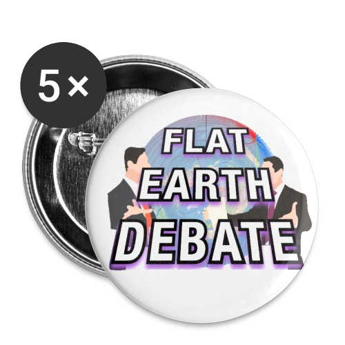 Flat Earth Debate Solid - Buttons small 1''/25 mm (5-pack)