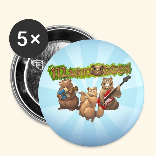 badge groupe - Lot de 5 petits badges (25 mm)