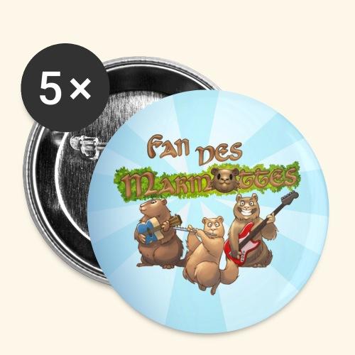 Badge fans - Lot de 5 petits badges (25 mm)