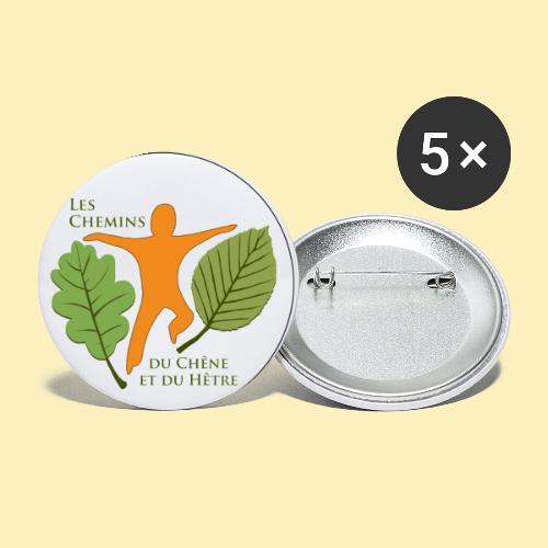 Logo des Chemins du Chêne et du Hêtre - Lot de 5 petits badges (25 mm)