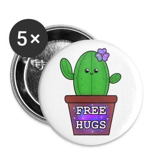 free hugs <3 - Små knappar 25 mm (5-pack)