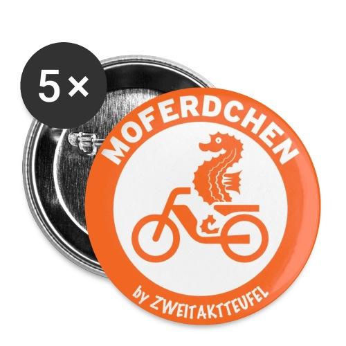 Moferd - Buttons klein 25 mm (5er Pack)