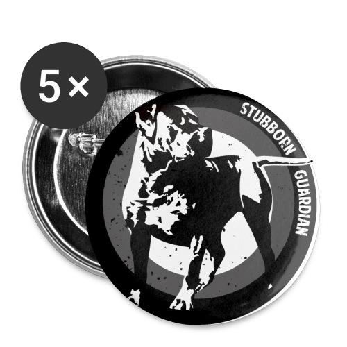 Stubborn Guardian - Rintamerkit pienet 25 mm (5kpl pakkauksessa)