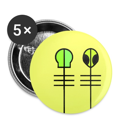 Skeleton Clique - Buttons small 1''/25 mm (5-pack)