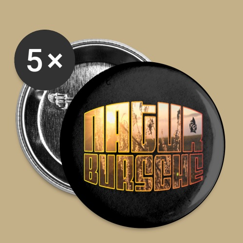 Naturbursche Button - Buttons klein 25 mm (5er Pack)